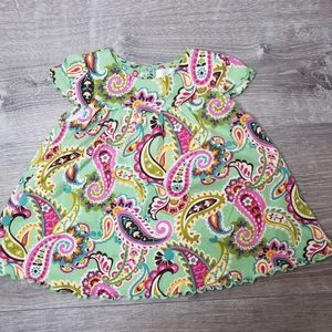 Vera Bradley baby paisley dress size 3-6 Months